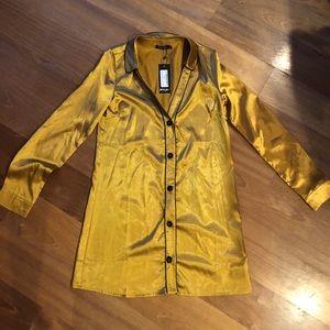 Brand new gold slip dress